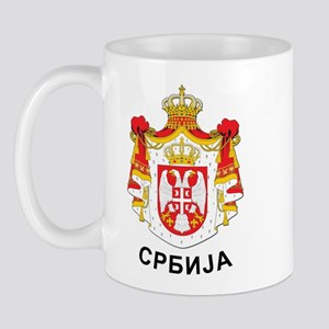 Serbia coat of arms with name Mug