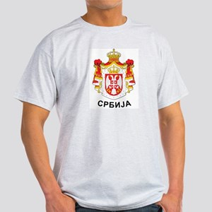 Serbia coat of arms with name Light T-Shirt