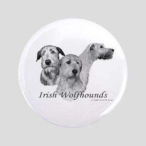 """Irish Wolfhounds 3.5"""" Button"""