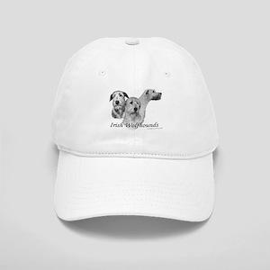 3 head study B&W Irish Wolfhound Cap