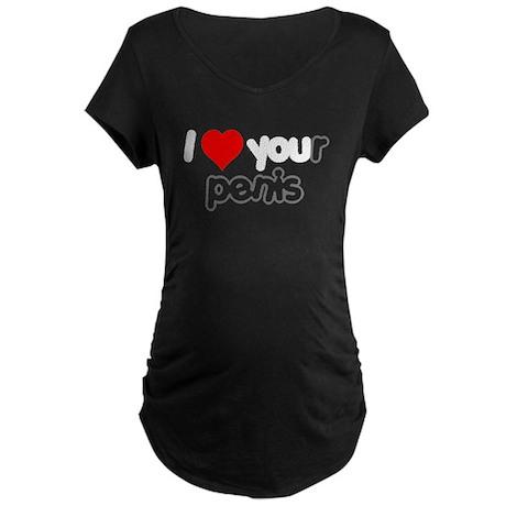 Your Penis Maternity Dark T-Shirt