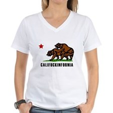 Califuckinfornia Women's V-Neck T-Shirt