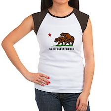 Califuckinfornia Women's Cap Sleeve T-Shirt