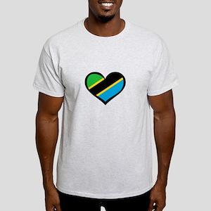 Tanzanian Love Heart Light T-Shirt