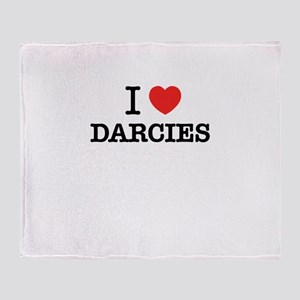 I Love DARCIES Throw Blanket
