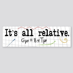 Relativity Bumper Sticker