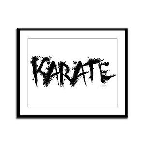 """""""Karate"""" 3 Framed Panel Print"""