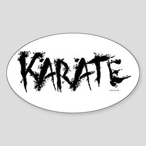 """Karate"" 3 Oval Sticker"