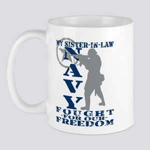 Sis-n-Law Fought Freedom - NAVY Mug
