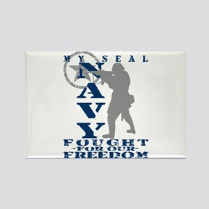 Seal Fought Freedom - NAVY Rectangle Magnet