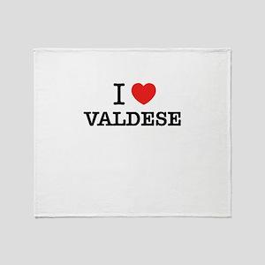 I Love VALDESE Throw Blanket