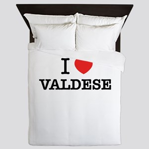 I Love VALDESE Queen Duvet
