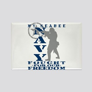 Seabee Fought Freedom - NAVY Rectangle Magnet