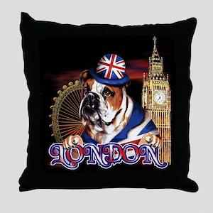 Bulldog LDN 07 Throw Pillow