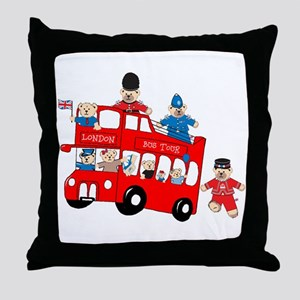 LDN only Bus Tour Throw Pillow