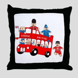 LDN only Bus Tour Throw Pillow