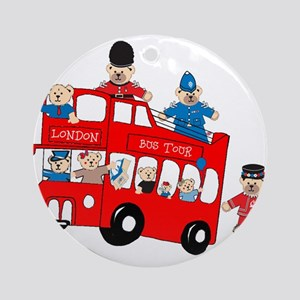 LDN only Bus Tour Ornament (Round)