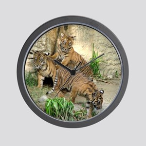 Helaine's Tiger Cubs 2 Wall Clock