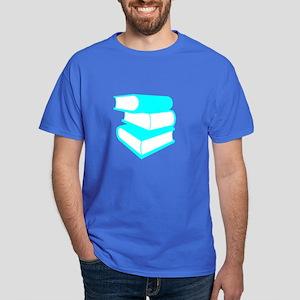 Stack Of Cyan Books Dark T-Shirt