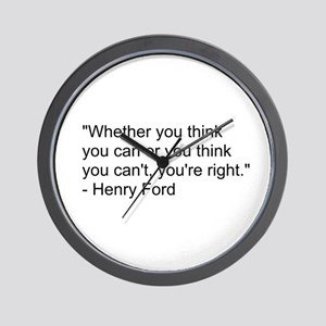 Henry Ford Quote Wall Clock