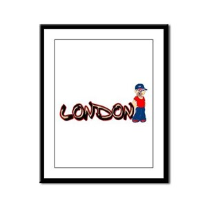 LDN Teddy Bear Framed Panel Print