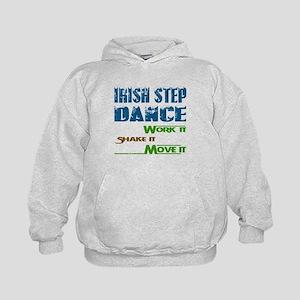 Irish Step dance, Work it,Share it, Mo Kids Hoodie