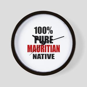 100 % Pure Mauritian Native Wall Clock