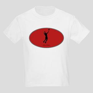 Mens Volleyball (euro-red) Kids Light T-Shirt