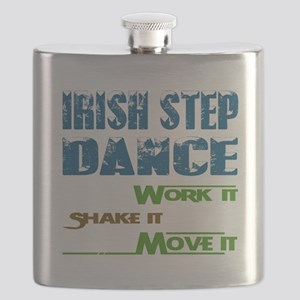 Irish Step dance, Work it,Share it, Move it Flask