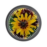 Yellow Brown Flower 2 Wall Clock