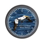 American Great White Pelican Wall Clock