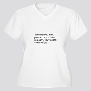 Henry Ford Quote Women's Plus Size V-Neck T-Shirt
