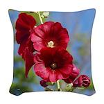 Hollyhocks Woven Throw Pillow