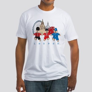 Teddy Holding Hands Fitted T-Shirt
