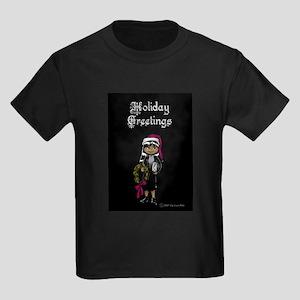 Goth Girl Christmas Kids Dark T-Shirt