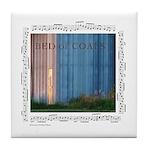 """""""Coals""""&metallic Tile Coaster"""