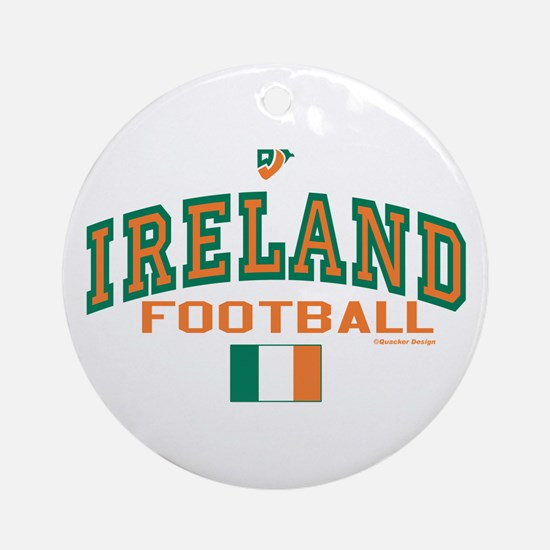 Ireland Football/Soccer Ornament (Round)