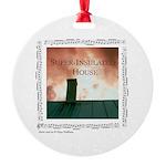 """""""House""""&chimney Round Ornament"""