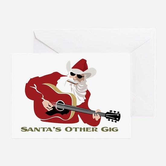 Santa's Other Gig Greeting Card