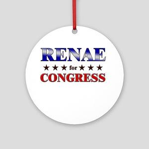 RENAE for congress Ornament (Round)