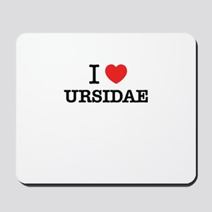 I Love URSIDAE Mousepad