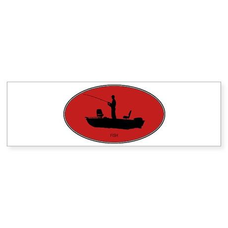 Fish (euro-red) Bumper Sticker
