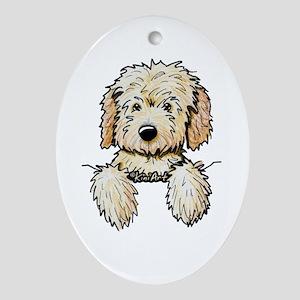 Pocket Doodle Pup Ornament (Oval)
