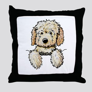 Pocket Doodle Pup Throw Pillow