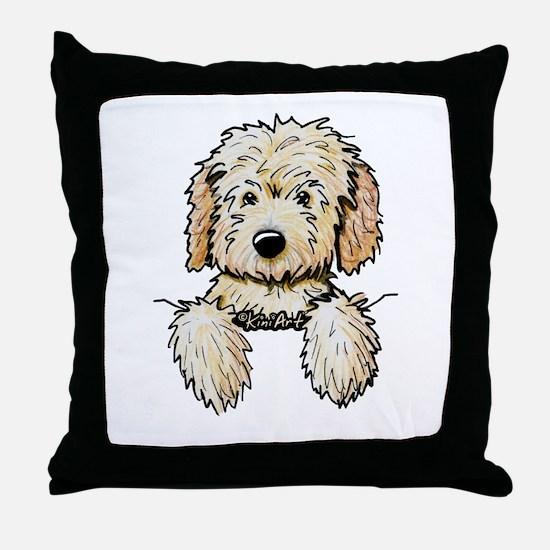 Pocket Doodle Pup Throw Pillow