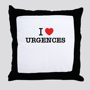I Love URGENCES Throw Pillow