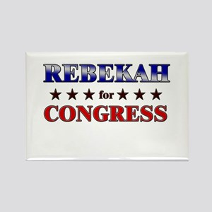REBEKAH for congress Rectangle Magnet