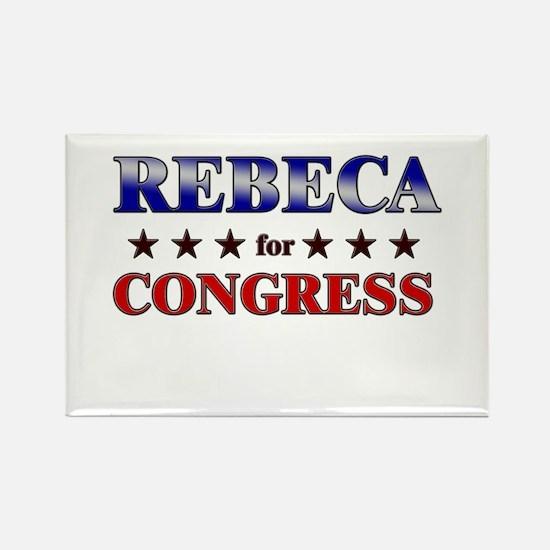 REBECA for congress Rectangle Magnet
