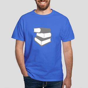 Stack Of Gray Books Dark T-Shirt
