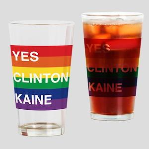 YES Clinton Kaine - Rainbow Drinking Glass